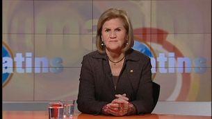 La presidenta del Parlament, Núria de Gispert.