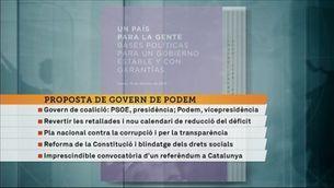 Podem presenta la seva proposta de govern
