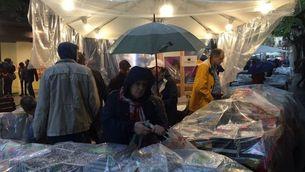 Pluja a Girona per Sant Jordi