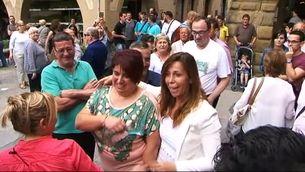 Alícia Sánchez-Camacho durant l'escridassada a la plaça Major de Vic