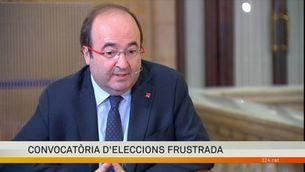 """Miquel Iceta: """"No es veu com a bo el 155. Pot ser obligat, o inevitable. Però no bo"""""""