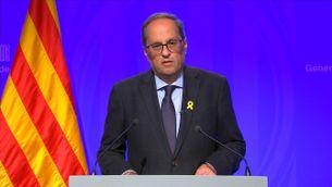Missatge institucional del president de la Generalitat, Quim Torra
