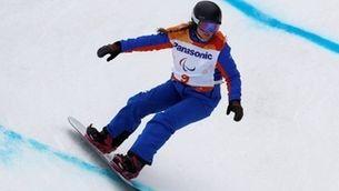 La campiona paralímpica de snowboard Astrid Fina