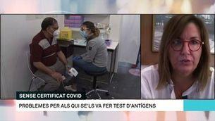 """Marga Garcia Canela: """"Els problemes amb el certificat de recuperació depenen de la UE"""""""