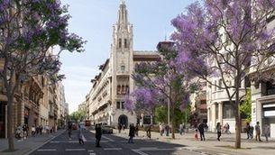 La nova Via Laietana: els cotxes només podran baixar i les bicis ho faran pel carril bus