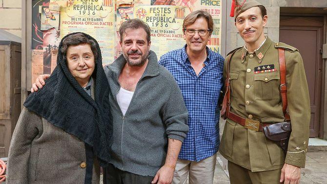 Jordi Roigé, director de la pel·lícula amb alguns dels protagonistes