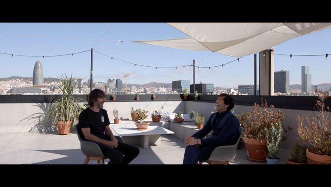 Millán i Parreño riuen amb la ciutat de Barcelona al fons