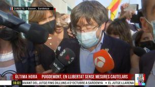 """Carles Puigdemont, en llibertat: """"Espanya no perd oportunitat de fer el ridícul"""""""