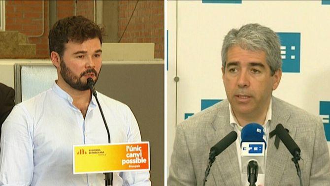 Homs critica l'ANC per l'aposta pel referèndum unilateral, mentre Rufián el defensa i reclama unitat