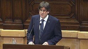 Discurs íntegre de Carles Puigdemont en la sessió de confiança