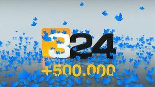 El 324.cat, líder a Twitter, supera el mig milió de seguidors