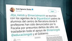 Els secretaris d'estat d'Educació i Interior es reuneixen amb els pares guàrdies civils de Sant Andreu de la Barca