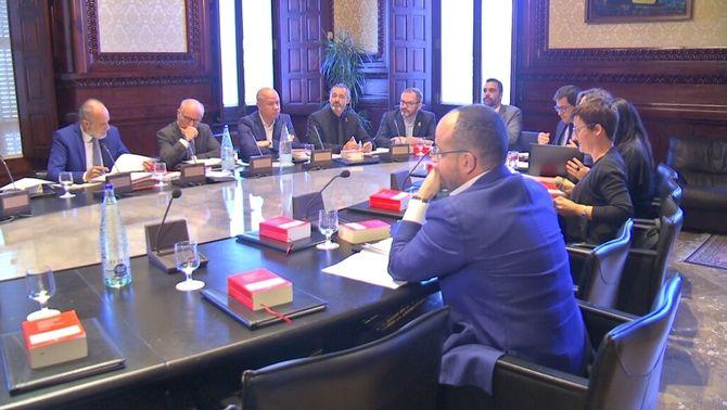 La mesa del Parlament, reunida aquest dimecres a la tarda