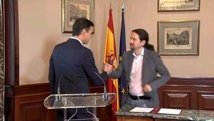 Acord exprés entre Sánchez i Iglesias per governar sense tenir assegurada la investidura