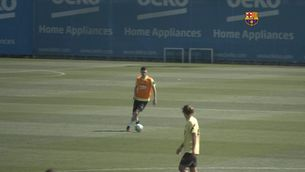El Barça s'entrena sense Messi