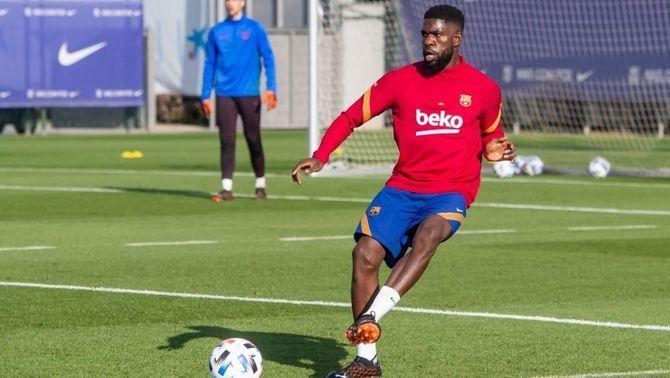 Samuel Umtiti juga 60 minuts amb el Barça B