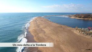 Un nou delta a la Tordera, creat pel temporal Gloria