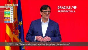 """Salvador Illa (PSC): """"Em presentaré a la investidura. El canvi ha arribat per quedar-se"""""""