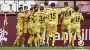El Girona goleja a Logronyo (1-4) per mantenir-se en play-off