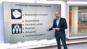 Les peticions de Puigdemont a Rajoy