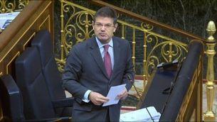 """El ministre de Justícia diu al Congrés dels Diputats que els llaços grocs són """"ofensius"""""""