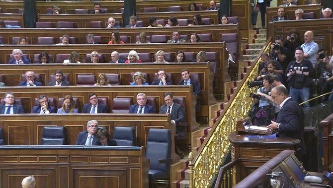 Rajoy no assisteix al debat de la moció de censura al Congrés