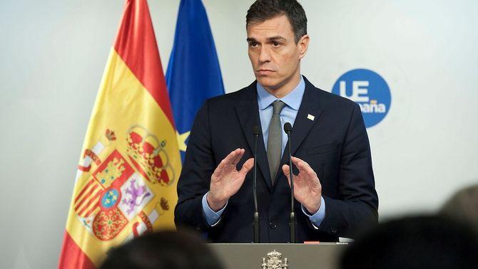 """Pedro Sánchez: """"És un dia trist per a tots aquells que som europeistes"""""""