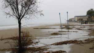 El temporal Gloria esborra platges a la Costa Daurada