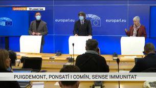 """Puigdemont: """"La democràcia europea ha perdut. Estem davant d'una clara persecució política"""""""