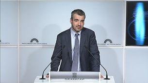 El portaveu parlamentari del PSC, Maurici Lucena, aquest dimarts a la cambra catalana.