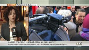 Polèmica al Parlament per la visita d'Otegi