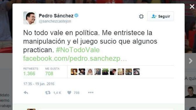 Pedro Sánchez denuncia una campanya en contra seva per un vídeo que s'ha fet viral a la xarxa