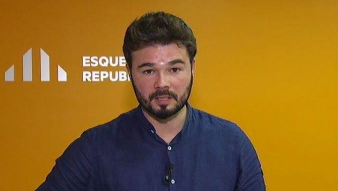 """Gabriel Rufián: """"Hem d'estar orgullosos que a Catalunya el Partit Popular sigui residual"""""""