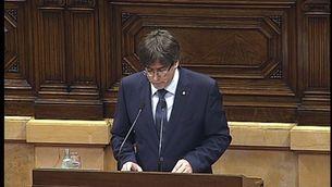 """Puigdemont: """"O referèndum o referèndum"""""""