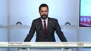 La mesa del Parlament desafia el Tribunal Constitucional