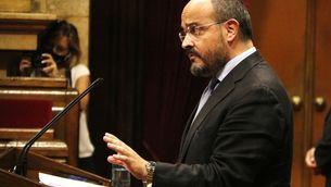 El president del PPC, Alejandro Fernández, durant el debat de política general al Parlament, el 14 de setembre de 2020