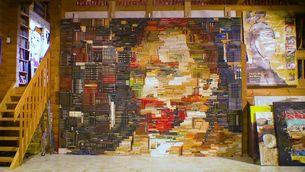 Un Van Gogh pintat amb llibres