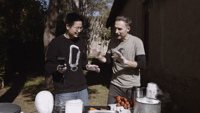 """Long Li Xue amb Dani Jiménez a """"Efecte wow""""."""
