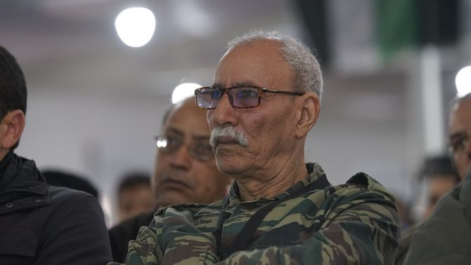 El líder del Front Polisario, Brahim Ghali (Europa Press)