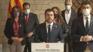 """Pere Aragonès: """"La prioritat immediata és que el president Puigdemont sigui alliberat"""""""