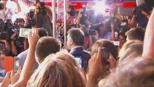 Joan Laporta, el segon candidat que ha anat a votar