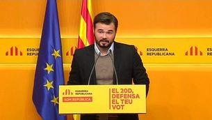 Rufián assegura que no hi haurà independència sense Mas