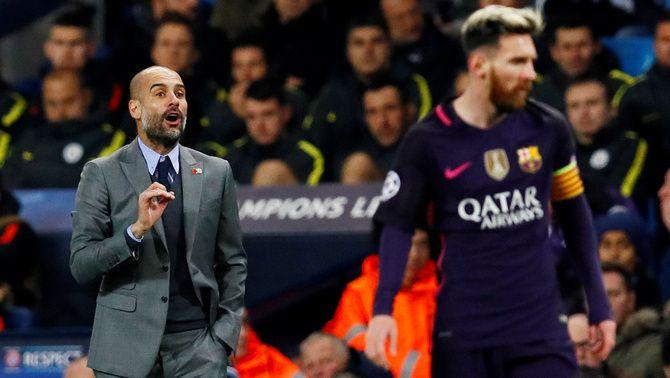 """Guardiola: """"Vull que Messi acabi la seva carrera al Barça"""""""