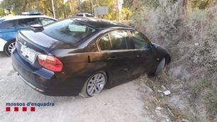 Un conductor begut abandona el fill després d'un accident a Caldes de Malavella