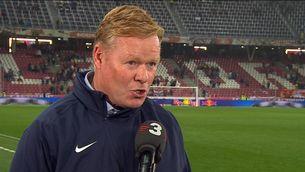 """Koeman: """"El més important és que Messi continuï amb nosaltres"""""""