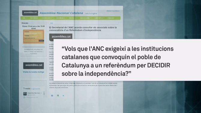 L'ANCconsultarà els socis sobre la celebració d'un referèndum vinculant per la independència
