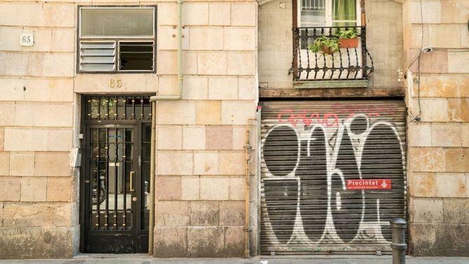 Una associació de cànnabis precintada (Ajuntament de Barcelona)