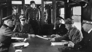 Firma de l'armistici de la Primera Guerra Mundial, l'any 1918
