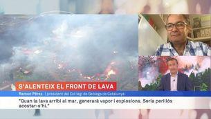 "Ramon Pérez, president del Col·legi de Geòlegs: ""Acostar-se al mar quan la lava hi arribi seria perillós"""