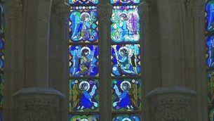 La cripta de la Sagrada Família, des de dins